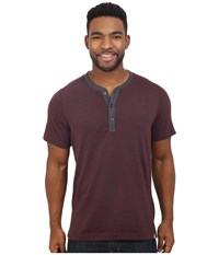 The North Face Short Sleeve Crag Henley Root Brown Heather Men's Clothing