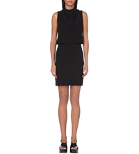 French Connection Polka Plains Layered Jersey Dress Black