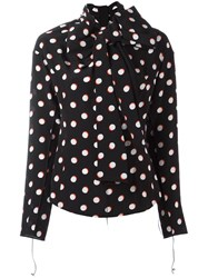 Marc Jacobs Polka Dot Print Shirt Black