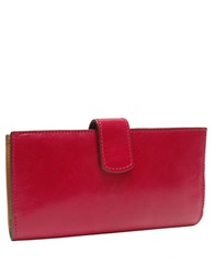 Tusk Tuscany Leather Slim Clutch Wallet Geranium