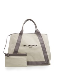 Balenciaga Ligne Cabas M Cotton Canvas Shopper