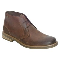 Barbour Redhead Leather Chukka Boots Dark Tan