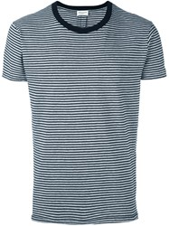 Saint Laurent 'Punk Rock' Striped T Shirt Grey