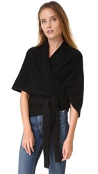 White Warren Cashmere Body Wrap Black