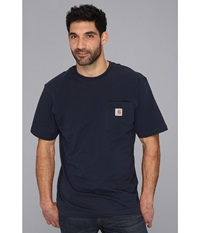 Carhartt Big Tall Workwear Pocket S S Tee Navy Men's Short Sleeve Pullover