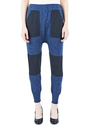 Lauren Manoogian Block Knit Sweat Pants Blue