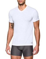 Under Armour 2 Pack V Neck Undershirts White