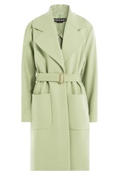 Rochas Wool Coat With Cashmere Green