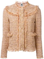 M Missoni Fringed Woven Jacket Pink And Purple