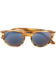Persol Round Frame Sunglasses Nude And Neutrals