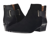 Yosi Samra Drew Suede Boot With 3D Croco Detail Black Women's Boots