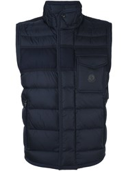 Moncler Quilted Padded Gilet Blue