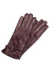 Coccinelle Gloves Aubergine Berry
