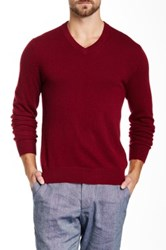 Qi Cashmere V Neck Sweater Red