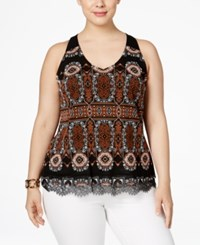 Inc International Concepts Plus Size Printed Halter Top Only At Macy's Medallion