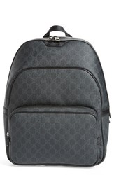 Gucci Men's Faux Leather Logo Backpack