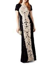 Phase Eight Zena Ribbon Detail Gown Black Ivory