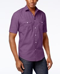 Alfani Big And Tall Short Sleeve Warren Shirt Rocky Slate