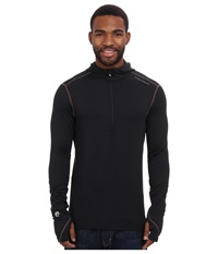 Hot Chillys Micro Elite Chamois 8K Hooded Zip Top Black Men's Long Sleeve Pullover