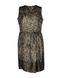 Pauw Short Dresses Dark Green