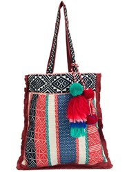 Figue 'Tova Traveller' Striped Tote Bag Red