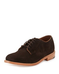 Gorilla Usa Suede Dress Oxford Chocolate