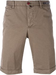 Pt01 Folded Hem Chino Shorts Green