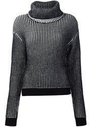 Maiyet Chunky Knit Turtleneck Sweater Black