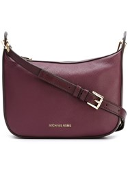Michael Michael Kors Eyelet Detailing Crossbody Bag Pink Purple