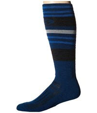 Icebreaker Ski Medium Otc 1 Pair Pack Largo Jet Heather Pearl Men's Crew Cut Socks Shoes Blue