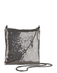 Whiting And Davis Crossbody Dance Bag Pewter