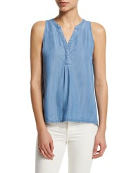 Soft Joie Carley B Sleeveless Top Size S Light Blue Vintage Chambray