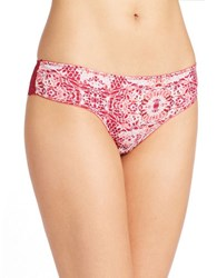 Candc California Cheeky Laceback Hipsters Red Mosaic