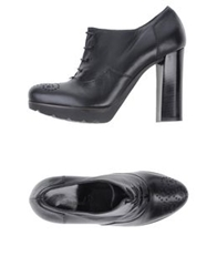Emanuela Passeri Lace Up Shoes Black