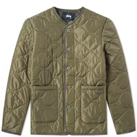 Stussy Quilted Military Liner Jacket Green