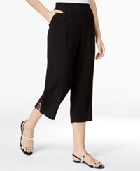Jm Collection Pull On Cropped Pants Only At Macy's Deep Black