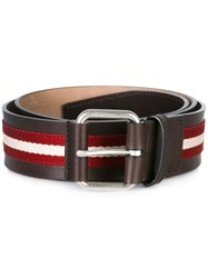 Bally Striped Belt Brown