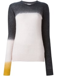 See By Chloe Tri Colour Degrade Jumper Nude And Neutrals