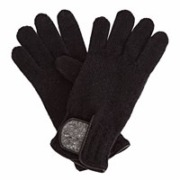Gizelle Renee Theodore Black Wool Gloves With Black Speckle Wool