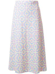 House Of Holland Patterned A Line Skirt Multicolour