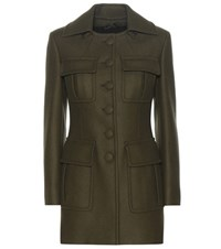 Prada Wool Blend Jacket Green