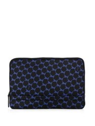Z Zegna Geometric Nylon Pouch Black Blue