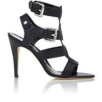 Manolo Blahnik Women's Oceailono Double Buckle Sandals Black