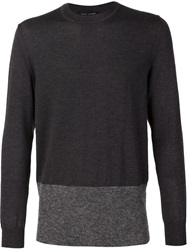 Marc Jacobs Two Tone Crew Neck Sweater Grey