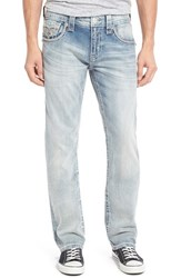 Rock Revival Men's Alternative Straight Fit Jeans Light Blue