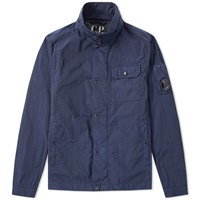 C.P. Company Arm Lens Zip Overshirt Blue