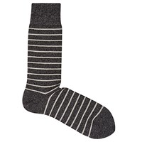 Reiss Grayson Stripe Socks One Size Soft Grey
