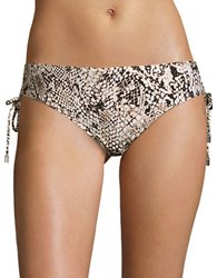 Calvin Klein Side Tie Hipster Bikini Bottom Brown