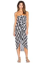 Mikoh Snapper Rocks Sarong Black And White
