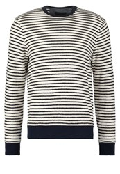 Banana Republic Jumper Cream Dark Blue
